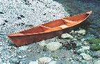 Big Yukon double-paddle canoe, 16-ft x 28-in